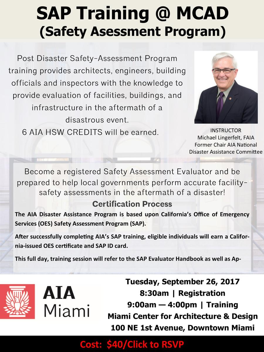 Post disaster safety assessment program miami center for sapinvite 1betcityfo Image collections