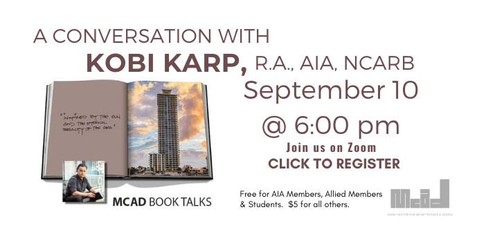 MCAD Book Talks:  A Conversation with Kobi Karp, AIA